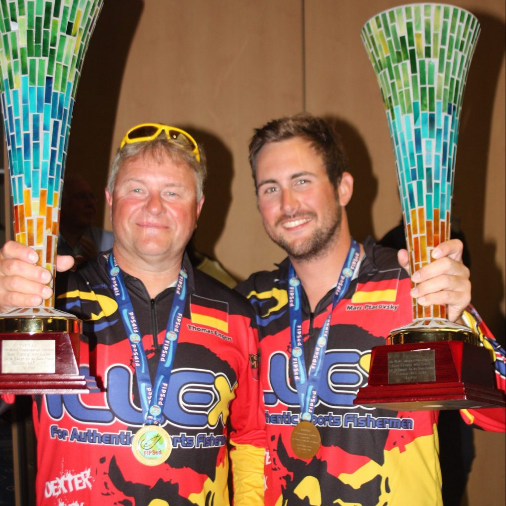 Marc Ptacovsky and Thomas Engert at world bass championship